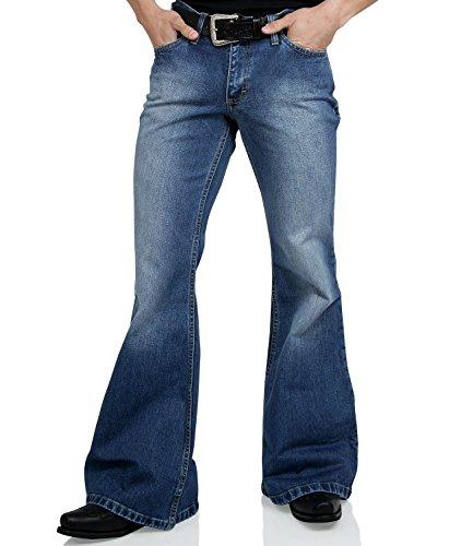 Comycom Jeans Schlaghose Star Used Washed Reloaded 38/32 (70er-jahre-looks Für Damen)