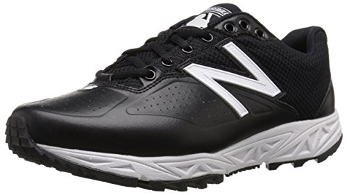 New Balance Mens MU950V2 Umpire Low Shoe, Black, 10 D US Black/White