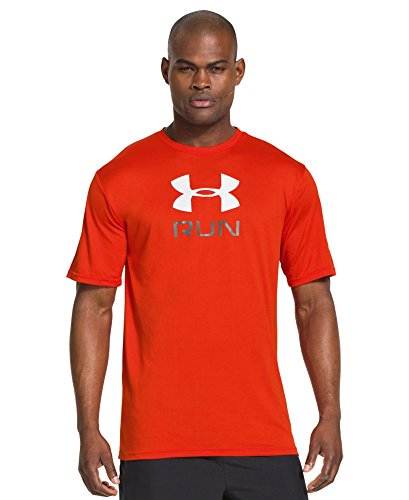 Under Armour Herren Top Run Big Graphic Tee, SM, Volcano / Graphite - Under Armour Graphic T-shirt Baseball