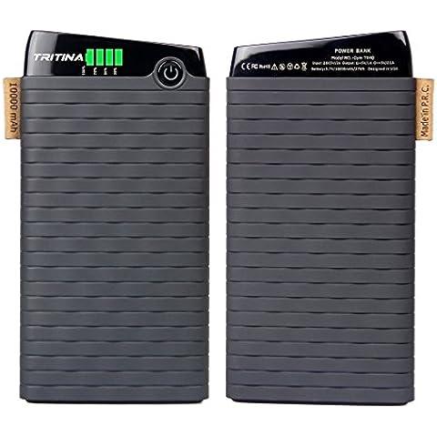 Célula de batería del polímero externa Tritina gimnasio Tr40 Banco potencia 10.000mah superior del grado, entrada 2.1a, salida 3.1a, indicador LCD, cargador Dual-port, opción de 4 colores