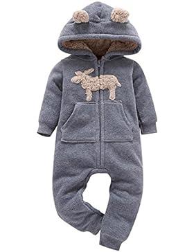 Jumpsuit Baby Overall Kinder Winter Jumpsuit Baby Junge Jumpsuit Baby Mädchen Kapuzenpullover Fleece Romper Baby...