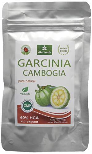 Garcinia Cambogia 90 Veggie Kapseln (4:1 Extrakt, 60{308f677e383992319e7cb3be5170f46901cb38278936cac97e806bbcfeaace9d} HCA) mit Kalzium, Fettblocker, Fat Blocker - garantiert frei von Trennmitteln und Stearaten (1x90)