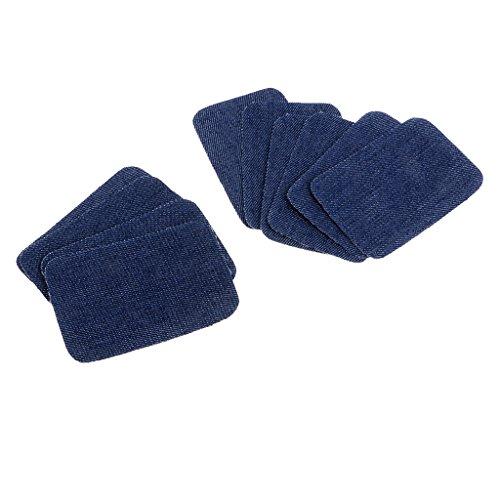 Denim-patch-kit (MagiDeal Patches zum Aufnähen,10 Stück Denim Patches Jeans Reparatursatz Kit für Jeans Kleidung)