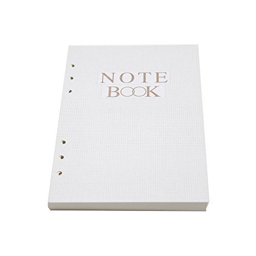 TSY Refill Papier für A5 Notizbuch, 6 Löcher, Liniert, 80 Blatt/160 Seiten