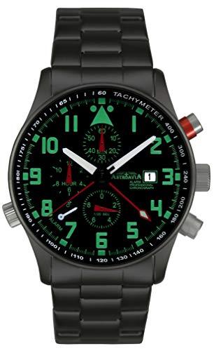 Astroavia R44BS Orologio da uomo Cronografo Nero Alarme Chronograph
