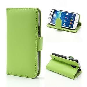 iProtect PU Ledertasche im Bookstyle Samsung Galaxy S4 mini Tasche grün