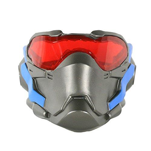 nihiug Soldat Maske Helm Uhr Pionier 76. Prop Halloween Cosplay,Silver-OneSize