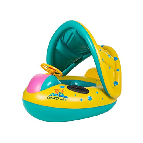 WorthOwning 6-18M Baby Inflatable Swimming Water Float, Yellow