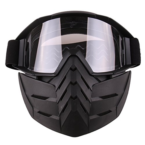Seciie Taktische Maske, Paintball Maske Airsoft Maske Gesichtsmaske Schutzmaske mit Brille für Nerf, CS, Skifahren, Halloween Party usw