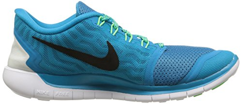 Nike Free 5.0  Damen Laufschuhe Mehrfabig (Blue Lagoon/Black-Voltage Green-Copa)
