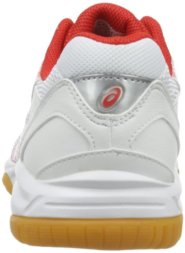 Asics Gel Doha GS, Scarpe da ginnastica Unisex - bambino Bianco (Weiß (Weiß / rot)