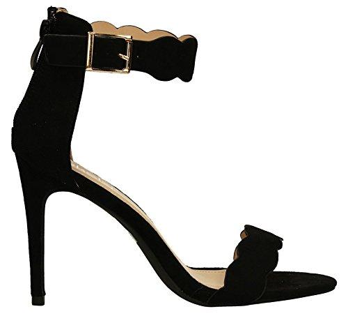 SwankySwans , Damen Sandalen braun braun, schwarz - schwarz - Größe: 41