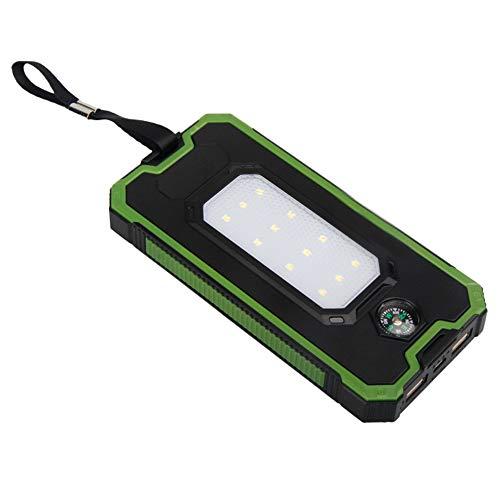 Zhrqinss Solar Mobile Power Compass Camping Light 10000 Mah Portable Charger Telefon Ladeschatz,2