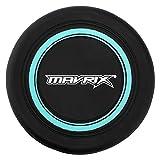 Mavrix Disque Volant Mixte Jeunesse Frisbee Silicone pour Enfants Adultes, Durable et Souple, Noir/Vert, Taille Unique