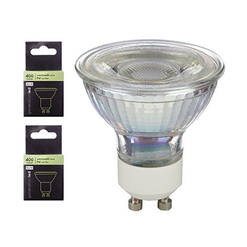 generationled LED Spot GU10 60° 5W 400LM 2700K Glas 2-er Pack