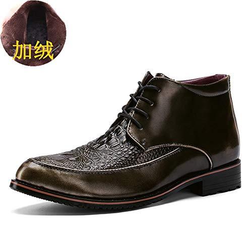 Hilotu uomo oxford commerciale scarpe da sera moda casual stivaletto per ankle boots vintage caldo (opzionale convenzionale) (color : warm gold, dimensione : 40 eu)