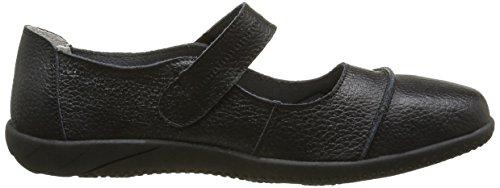 Sandales marches femmes confortables décontractées larges cuir velcro taille Noir