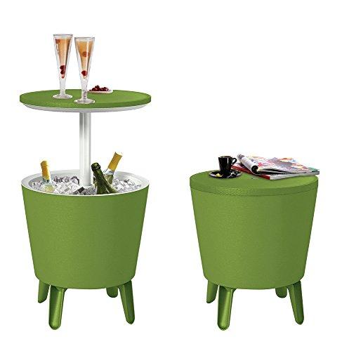 Koll Living Kühltisch Pacific Lime - 3in1 - Bistrotisch und Kühlbox in Einem - kühle Getränke stets griffbereit - Stehtisch für Party, Grill- oder Gartenfest