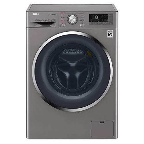 LG F4J8FH2S 9kg Wash 6kg Dry Eco Hybrid Freestanding Washer Dryer With TrueSteam And SmartThinQ - Shiny Steel