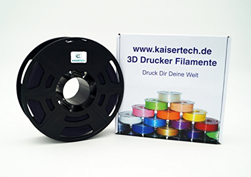 Kaisertech Filament für 3D Drucker 1kg PLA/ABS 1.75mm/3mm - Premium Qualität & verschiedene Farben für MakerBot RepRap MakerGear Ultimaker uvm. (PLA 1.75mm, Dusk)