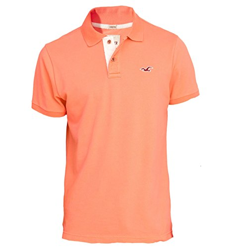 hollister-herren-stretch-slim-fit-pique-polo-poloshirt-polohemd-shirt-grosse-large-light-orange-6271