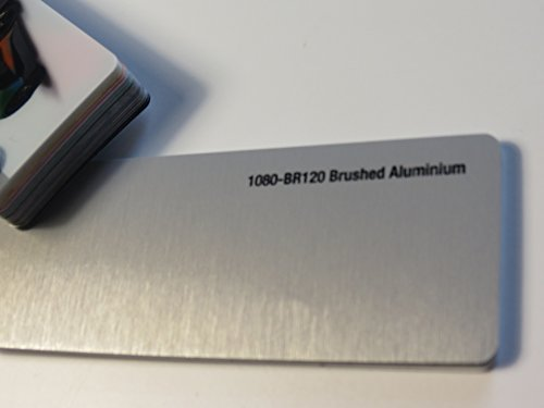 3M Scotchprint Wrap Film Series 1080 Aluminium Gebürstet gegossene Autofolie 100 x 152 cm Zuschnitt