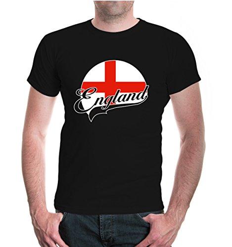 buXsbaum® T-Shirt England-Logo Black-z-direct