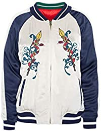 Highly Preppy Chaqueta Bomber Reversible para Mujer