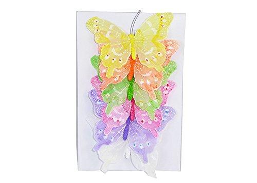 Decorazioni e addobbi pz 6 farfalla 15 cm primavera/pasqua