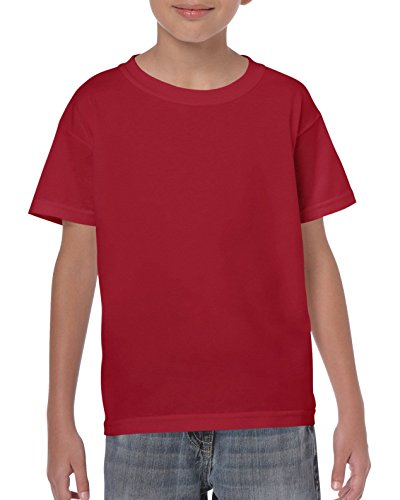 Gildan Kinder Schwere Baumwolle T-Shirt Gr. Large, Cardinal Red (T-shirt Kinder-cardinal Red)