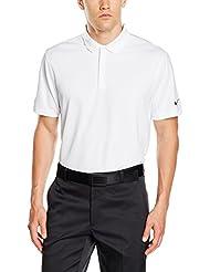 Nike Victory Solid - Polo para hombre, color blanco / negro / gris, talla L