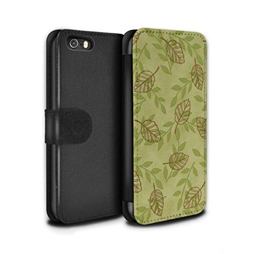 Stuff4 Coque/Etui/Housse Cuir PU Case/Cover pour Apple iPhone 5/5S / Pack (6 pcs) Design / Motif Feuille/Branche Collection Vert/Brown