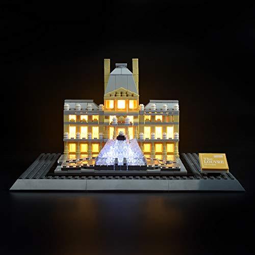 LIGHTAILING Conjunto de Luces (Architecture Louvre) Modelo de Construcción de Bloques - Kit de luz LED Compatible con Lego 21024 (NO Incluido en el Modelo)