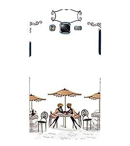 printtech City Modern Restaurant Girls Back Case Cover for Samsung Galaxy J5 / Samsung Galaxy J5 J500F