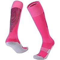 Hosaire 1 Par de Calcetín Largo Mediano Calcetines Color Sólido Tubo de Alta Calcetines de Deporte Sobre la Rodilla Calcetines Altos Moda Atlético (Rosa)