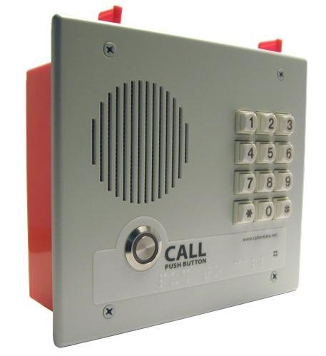 Cyberdata CD-011123 VoIP Intercom With keypad - Flush Mount by GenTEK - Voip-intercom