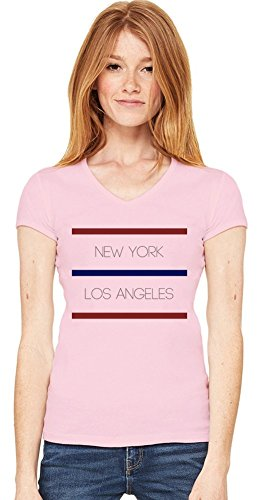 New York Los Angeles Womens V-neck T-shirt XX-Large -