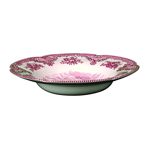 Johnson Brothers Old Britain Castles 8-1/2-Inch Rim Soup Bowl, Pink by Johnson Brothers Johnson Bros Old Britain Castles