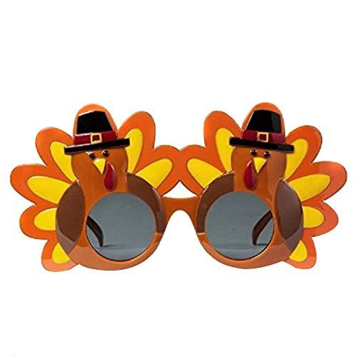 Kreative Sport Kostüm - htfrgeds Kreative Truthahn Brille Thanksgiving Brillen Cartoon Sonnenbrille Brillen für Happy Thanksgiving Kostüm Party Brille, Geschenk für Freunde