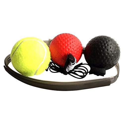 SENDILI Boxing Reflex Ball mit Kopfband - Punching Ball Speedball Boxen Training Ball für Zuhause und Outdoor Trainingsgeräte Dekompression