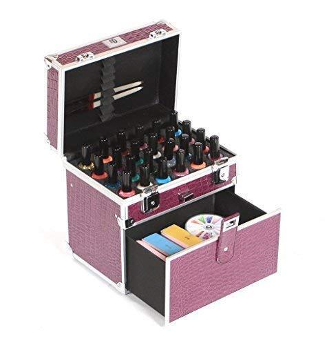 Urbanity Vernis à Ongles Vernis Bouteille Beauté Cosmétique Maquillage Vanity Case Boîte - Violet crocodile