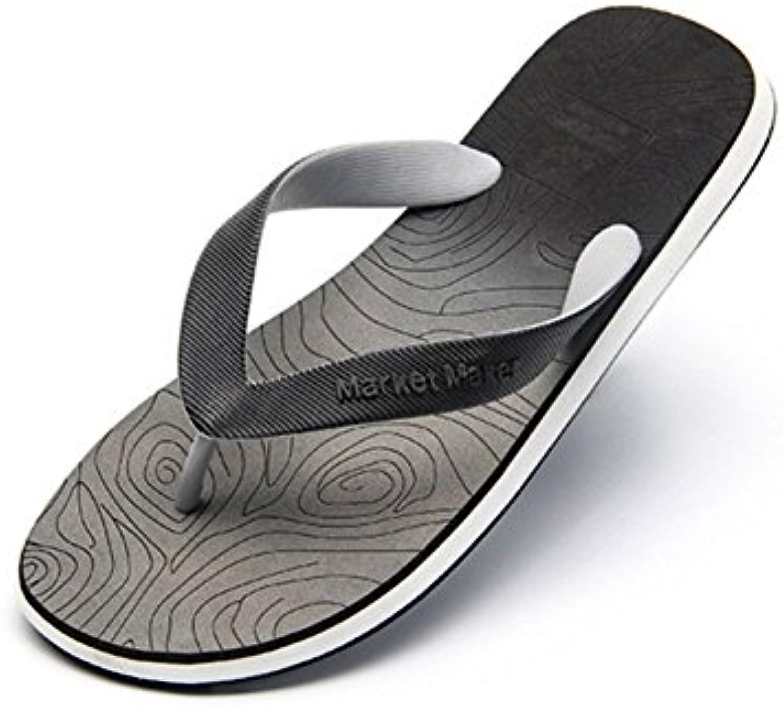 Zapatillas De Playa Para Hombres Gradient Flip Flops Arco De Apoyo Casual Slip Plano Respirable Sandalias