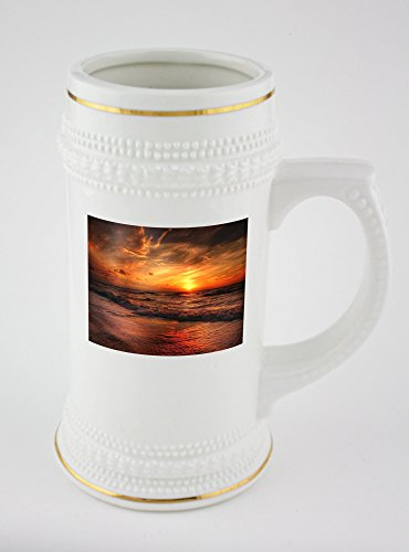 beer-mug-with-golden-rim-of-beach-north-sea-sea-sunset-water