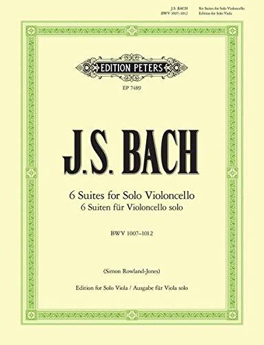 Suiten für Violoncello solo BWV 1007-1012: Übertragung für Viola solo (Grüne Reihe Edition Peters)