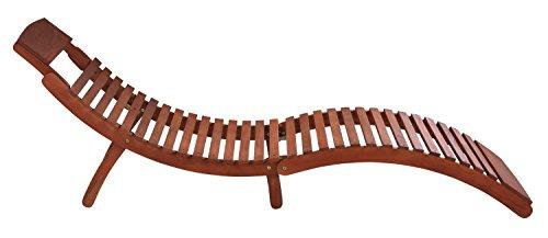 Sonnenliege  RASSO , Gartenliege, Holzliege, Liege Klappbar Aus Eukalyptus  Holz