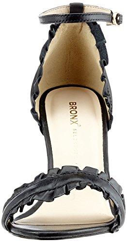Bronx Bx 1244 Blloydx, Scarpe Col Tacco con Cinturino a T Donna nero (nero)