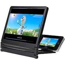 Patuoxun® Lupa portátil y Stand de ampliadora fotográfica–-- Vidrio cosmético --- agrandir 3x -5x para la pantalla de teléfono portátil iphone 4s/5/5S/5C Samsung i9300/i9500/N7100/N7200Galaxy S3/S4/Note 2/Note 3/Galaxy S5, teléfono HTC, LG, Nokia teléfono, Blackberry teléfono, Sony teléfono, teléfono, teléfono, ZTE teléfono, Motorola el teléfono Google y de otras marcas de teléfono móvil.