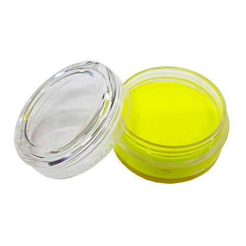 Fenteer Fluoreszenz Schminkset Kinderschminke Schminkpalette Gesichtsfarben Körperfarbe - Gelb