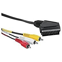 Hama - Video Connecting Cable RCA Male Plug Video-Scart/2 RCA Male Plugs Audio, 2 m, Scart, RCA 3x