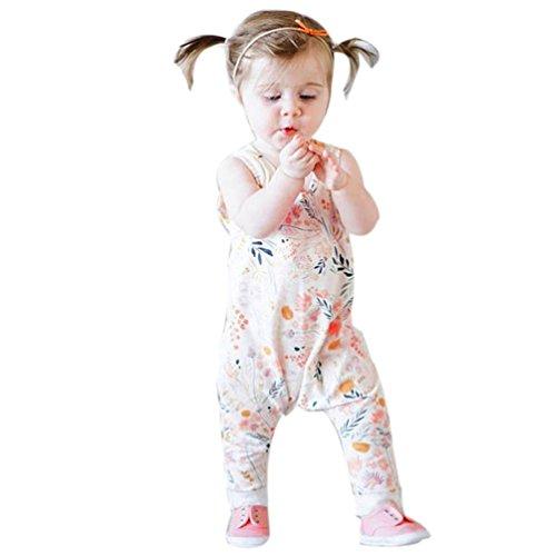 Baby Stück Kleidung, HARRYSTORE Kleinkind Säuglingsmädchen Blumendruck Spielanzug Overall Sunsuit Ausstattung (0/6M, Gelb) (Stück Kleinkind Carters 3 Mädchen)